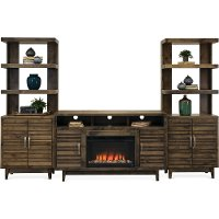Contemporary Fireplace Entertainment Center Wall - Avondale