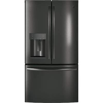 GFD28GBLTS GE 27.8 cu. ft. French Door Refrigerator - 36 Inch Black Stainless Steel