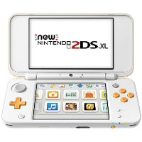 2DS JAN S OAAB New Nintendo 2DS XL - White and Orange