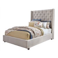 Classic Sand King Upholstered Bed - Vinings