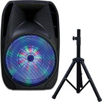 Supersonic IQ Portable Bluetooth DJ Speaker with Stand