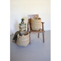 19 Inch Braided Rope Basket with Handles