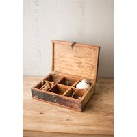 Recycled Teak Wood Tea Box