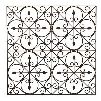 36 Inch Square Hand-Made Wrought Iron Wall Decor