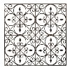 Clearance 36 Inch Square Hand Made Wrought Iron Wall Decor