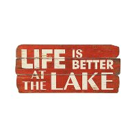 Red MDF Life Is Better Wall Decor