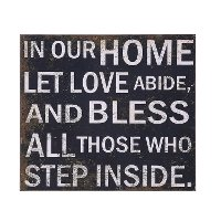 Black and White 22 Inch In Our Home Let Love Abide Wall Decor
