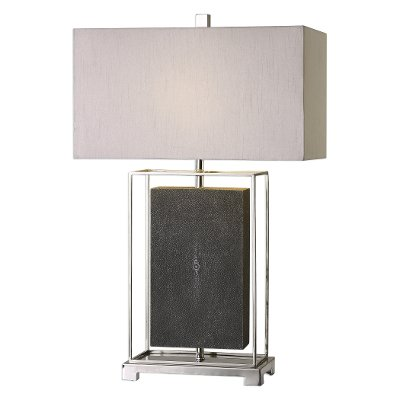 Gray and polished nickel table lamp rc willey furniture store gray and polished nickel table lamp aloadofball Choice Image