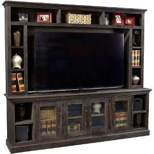 ... 2 Piece Rustic Brown TV Stand And Hutch ...