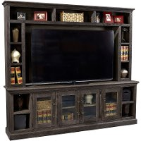 Natural Brown 2 Piece Classic Entertainment Center - Barnhouse