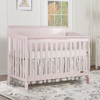 Blush Pink 5 in-1 Convertible Crib - Ashton