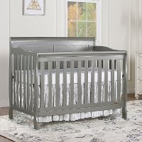 Storm Grey 5 in 1 Convertible Crib - Ashton
