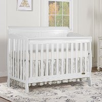 White 5 in 1 Convertible Crib - Ashton