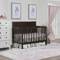 Mocha Convertible 5-in-1 Crib - Alexa