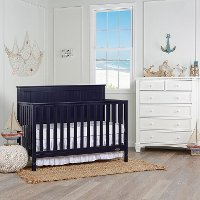 Navy Convertible 5-in-1 Crib - Alexa