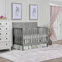 Storm Grey Convertible 5-in-1 Crib - Alexa