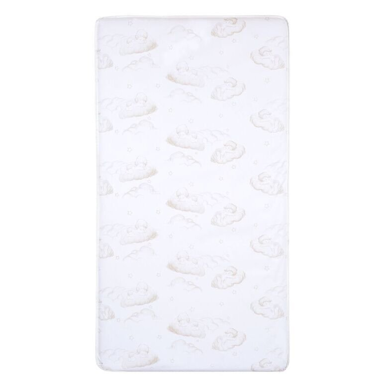 White and Brown Crib and Toddler Bed Mattress - Sweet Dreams