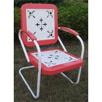 71540 Red Coral Chair - Retro Metal