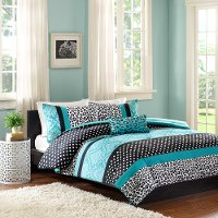 Chloe Teal Full-Queen 4 Piece Bedding Collection