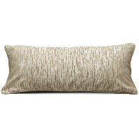 Oyster Rectangular Throw Pillow with Piping - Morocco