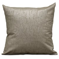 Bronze and Black Feather Blend Throw Pillow - Richford