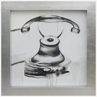 Vintage Telephone Framed Wall Art