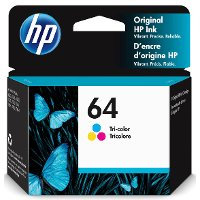 N9J89AN#140 HP Original 64 Tri-Color Ink Cartridge