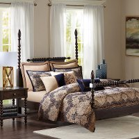 Wellington Blue Queen 8 Piece Bedding Collection