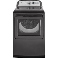 GTD75ECPLDG GE Electric Dryer with WiFi Connect - 7.4 cu. ft. Diamond Gray