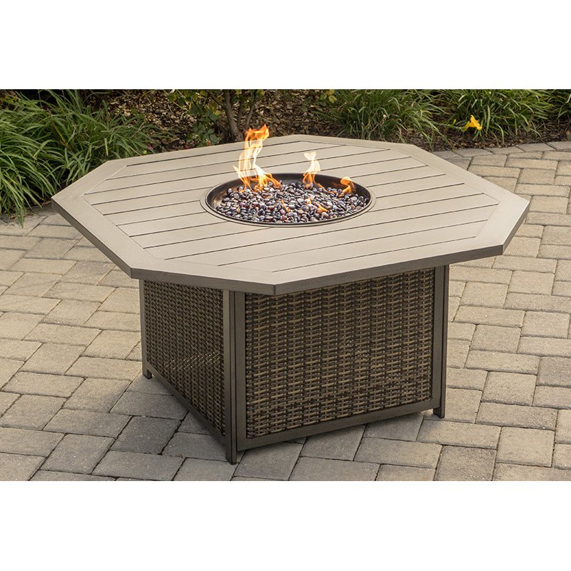 ... 47 Inch Outdoor Patio Fire Pit Table   Davenport