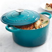 Crock Pot Ombre Teal Dutch Oven with Lid