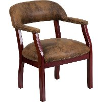 Vintage Brown Microfiber Accent Chair
