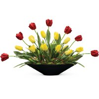 24 Inch Red and Yellow Tulips Arrangement