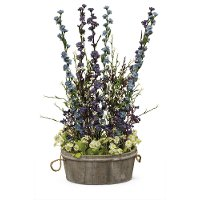 26 Inch Purple and Blue Wild Flowers