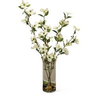 25 Inch Dogwood Blossom Arrangement With Water Look