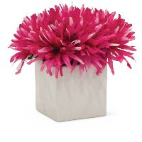 7 Inch Pink Flower Arrangement In White Cube