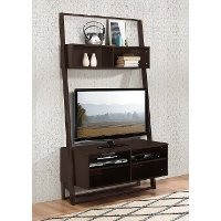 Cappuccino Brown 2 Piece Ladder Entertainment Center - Arlington