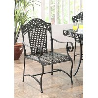 120229 2 Metal Outdoor Patio Chairs - Ivy League