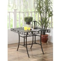 120260 Metal Square Outdoor Patio Table - Ivy League