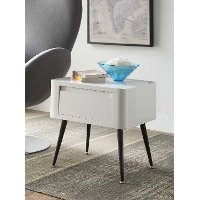 124901 Black and White End Table - Phoebe
