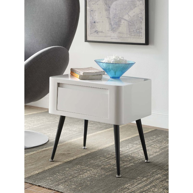 Black and White End Table - Phoebe