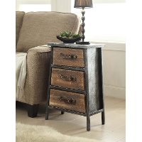 148017 Vintage Industrial 3-Drawer Chest - Urban Loft