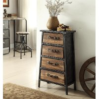 148019/4-DWR/CHEST Vintage Industrial 4-Drawer Chest - Urban Loft