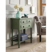 Green 3 Drawer Living Room Chest - Simplicity