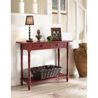 570779 Classic Red Entry Table - Simplicity