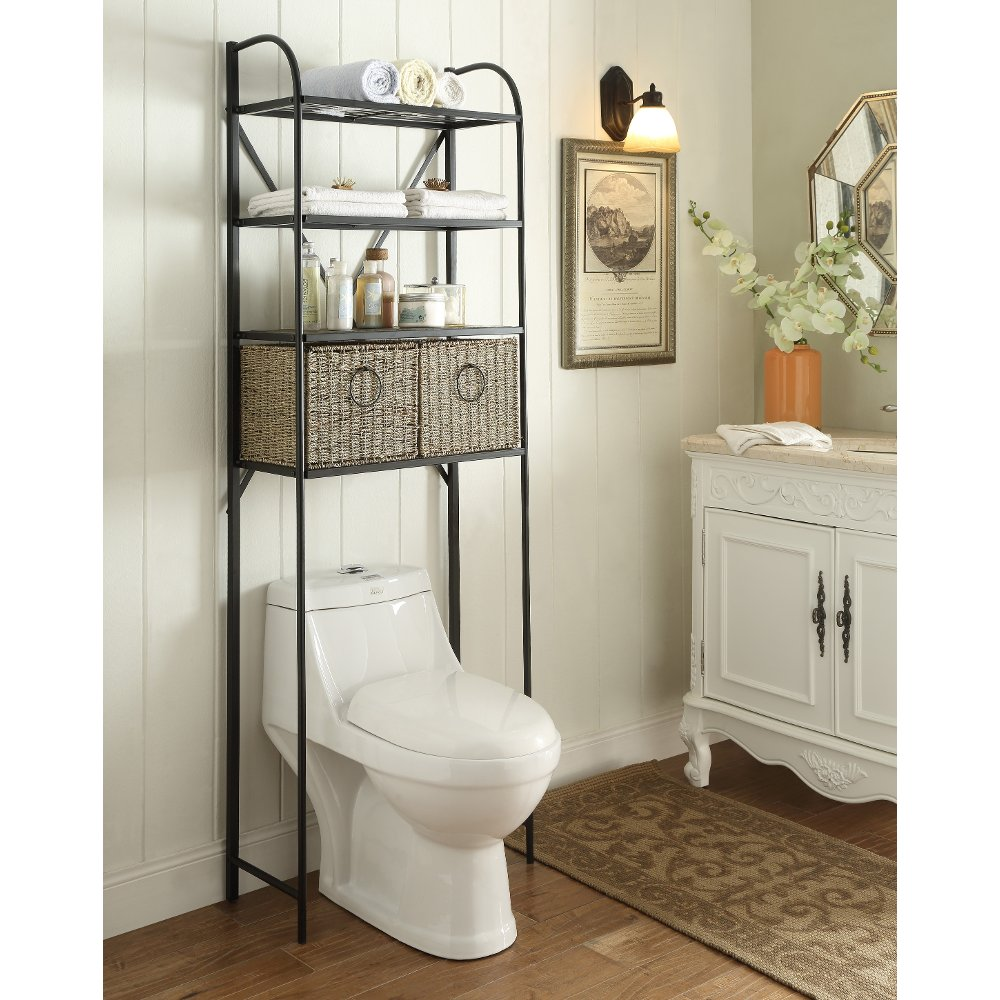 Black Metal Storage Space Saver with 2 Baskets - Windsor | RC Willey ...