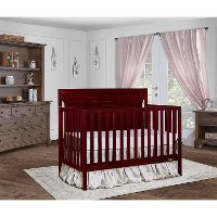 Casual Classic Cherry 5-in-1 Convertible Crib - Cape Cod