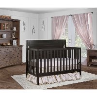 Charcoal 5-in-1 Convertible Crib - Cape Cod
