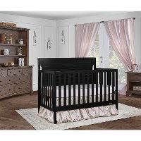 Black 5-in-1 Convertible Crib - Cape Cod