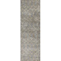 Gray 8 Foot Runner Rug - Greenwich